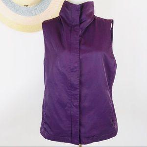 Eileen Fisher purple lightweight vest
